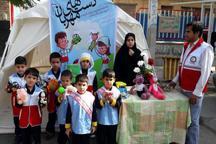 طرح دست های مهربان هلال در مهدهای کودک کردستان برگزار شد