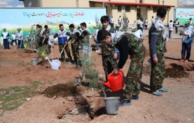 دانش آموزان تبریزی 36 هزار درخت کاشتند