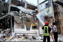 یک منزل مسکونی در اهواز در اثر انفجار گاز تخریب شد