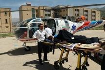 نجات جان مادر باردار با بالگرد هوایی در کهگیلویه