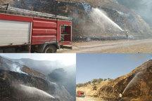 آتش دامن بلوط زارهای ارتفاعات دهدز را گرفت