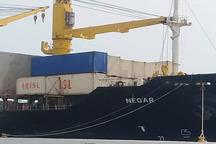 نخستین کشتی حامل محموله حبوبات هند وارد بندر چابهار شد