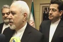 ظریف: علاقهمندیم مشکلات سوریه از طریق گفتوگو بخصوص بین کشورهای منطقه حل شود