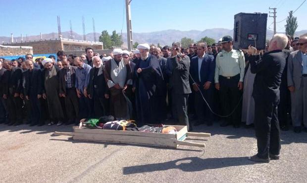 تشییع پیکر امام جمعه سابق هریس