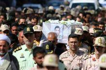 پیکر مرزبان شهید در مشهد تشییع شد