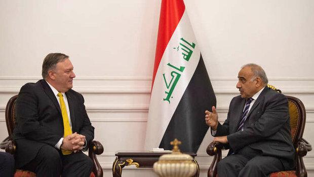 درخواست ضد ایرانی پمپئو از نخستوزیر عراق
