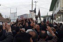 پیکر شهید مدافع حرم در بابلسر تشییع شد