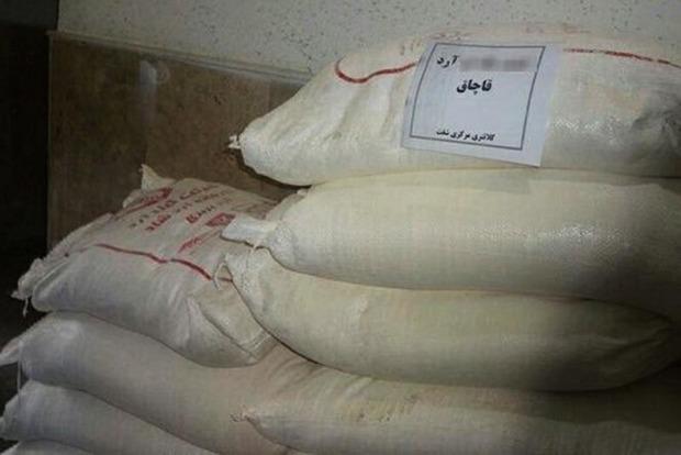 بیش از 47 تُن آرد قاچاق در سروآباد کشف شد