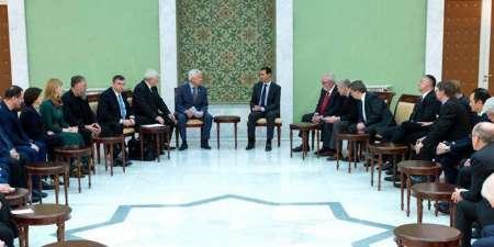 اسد: حل و فصل بحران سوریه از دو مسیر مبارزه با تروریسم و شیوه سیاسی دنبال می شود