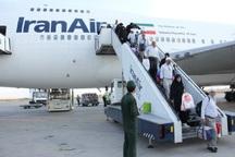 نخستین پرواز بازگشت حجاج فارس وارد فرودگاه شیراز شد