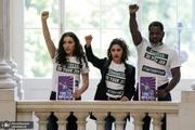 بازداشت طرفداران استیضاح ترامپ+ تصاویر