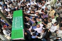 تشییع پیکر شهید مدافع حرم در مشهد