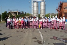 بازدید دانش آموزان بندر امامی از  قسمتهای مختلف ایستگاه مرکزی آتش نشانی سازمان منطقه ویژه اقتصادی پتروشیمی