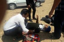 واژگونی پراید در هندیجان سه مصدوم بر جای گذاشت