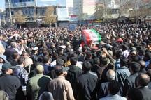 پیکر شهید حادثه تروریستی چابهار در یاسوج تشییع شد
