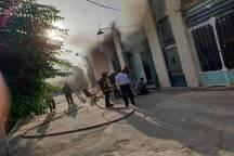 آتش سوزی یک مغازه در کرمان مهار شد