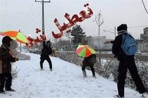 مدارس برخی مناطق استان کردستان روز شنبه بخاطر بارش برف تعطیل شد