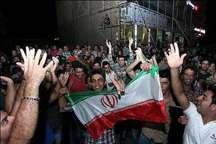 شادی مردم پایتخت پس از صعود تیم فوتبال ایران به جام جهانی روسیه