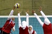 بانوان والیبالست فارس در تمرین تیم ملی حضور دارند