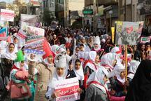 فریاد استکبارستیزی در راهپیمایی 13 آبان فیروزکوه سرداده شد