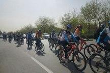 دوچرخه سواری همگانی در مشهد برگزار شد