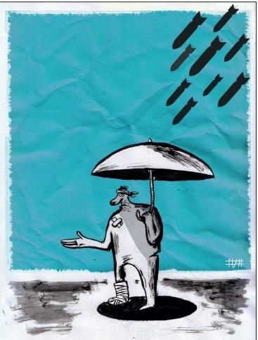 آوارگان جنگ/ کاریکاتور