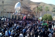 اجتماع بزرگ عاشوراییان چرامی در جوار امامزاده بیبی رشیده (س)