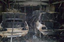 3 دستگاه خودرو در آتش سوزی پارکینگ تبریز سوخت