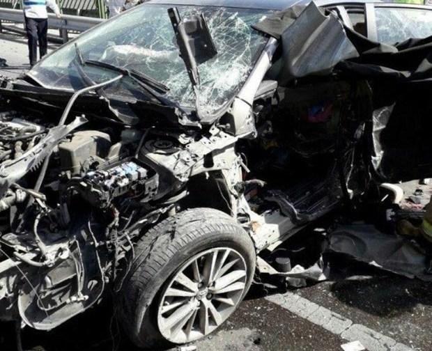 واژگونی خودروی سواری در جیرفت یک کشته برجای گذاشت