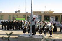 صبحگاه مشترک یگانهای مسلح ابرکوه برگزار شد