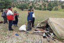 هلال احمر ایلام به 53 خانوار سیل زده امداد رسانی کرد