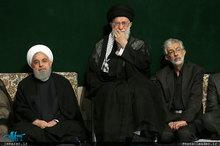 مراسم عزاداری شب تاسوعای حسینی با حضور رهبر معظم انقلاب اسلامی