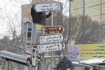نصب 2500 تابلوی جدید راهنمایی و رانندگی در 150 تقاطع تبریز