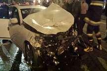یک کشته و سه مجروح براثر تصادف خودرو در کرج