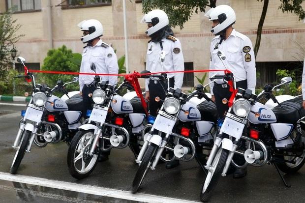 40 دستگاه موتورسیکلت به پلیس راهور کرج اهدا شد
