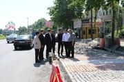 ورودی شهر لاهیجان سنگ فرش می شود