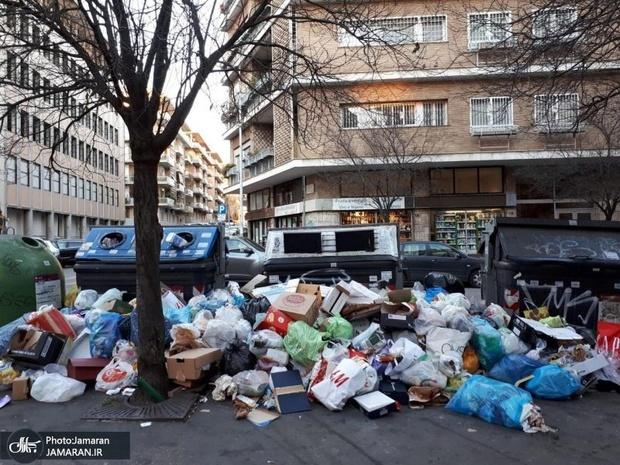 عکس/ بحران زباله در رُم