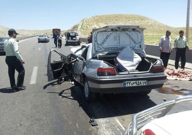 حادثه رانندگی 2 کشته و 6 مصدوم داشت