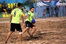 تیم فوتبال ساحلی فدک ارومیه بر بافق یزد غلبه کرد