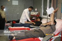 گزارش تصویری از اهدای خون مردم میاندوآب در شب های قدر