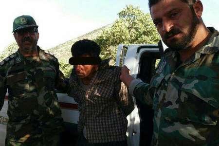 عامل آتش سوزی عمدی در ارتفاعات منطقه طبیعی مانشت دستگیر شد