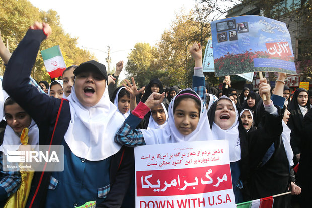 راهپیمایی ۱۳ آبان در ۳۶ نقطه گلستان برگزار شد