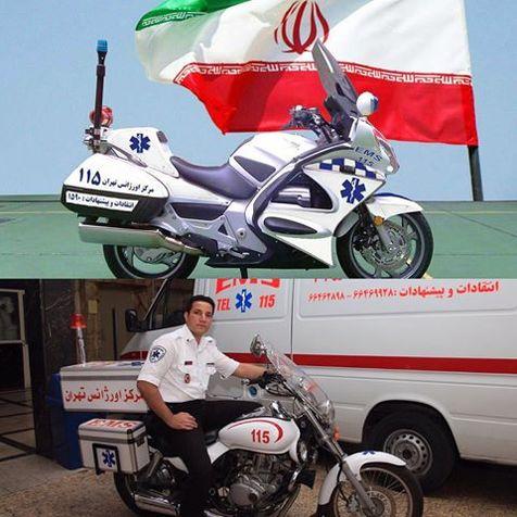 رونمایی از موتورلانسها (موتور آمبولانس) در تهران/ عکس