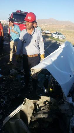 تصادف در محور محلات - خمین 2 کشته بر جا گذاشت