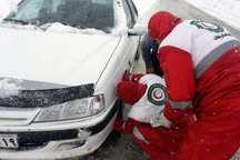 183 مسافر گرفتار در برف همدان اسکان داده شدند