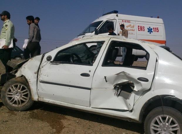 واژگونی خودرو یک کشته و 6 مجروح برجا گذاشت