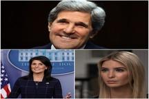 پیامهای مداخلهجویانه ایوانکا ترامپ، نیکی هیلی و جان کری در رابطه با اتفاقات روزهای اخیر ایران