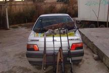 چهار شکارچی غیرمجاز در آبیک دستگیر شدند