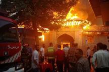 آتش سوزی در مسجد جامع ساری مهار شد