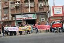 اعتراض حامیان حیوانات به کشتار سگ های بی صاحب در اهواز